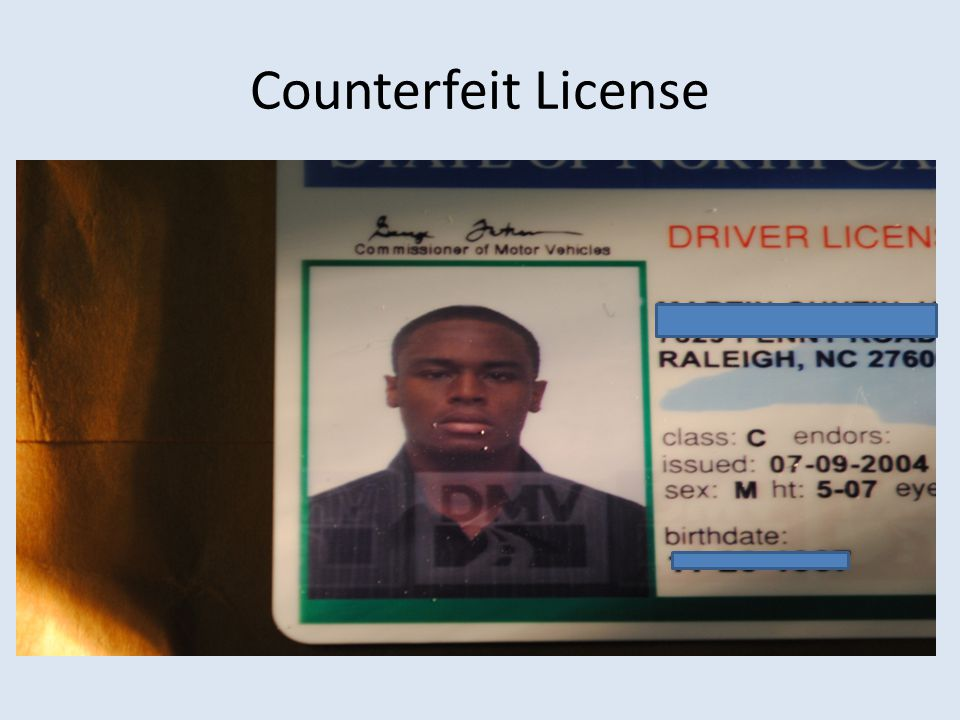 Counterfeit License