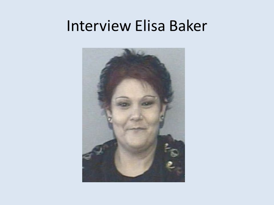Interview Elisa Baker