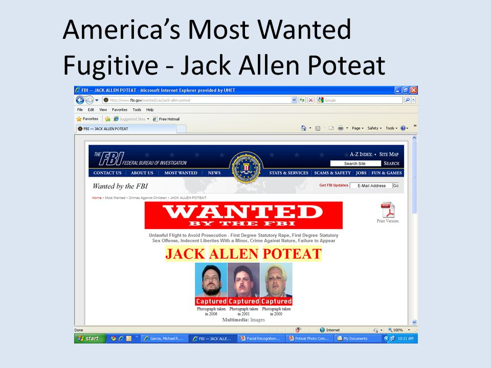 America's Most Wanted Fugitive - Jack Allen Poteat