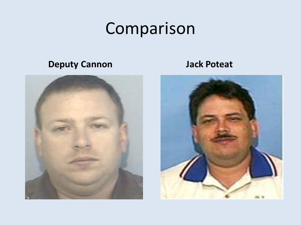 Comparison Deputy Cannon Jack Poteat
