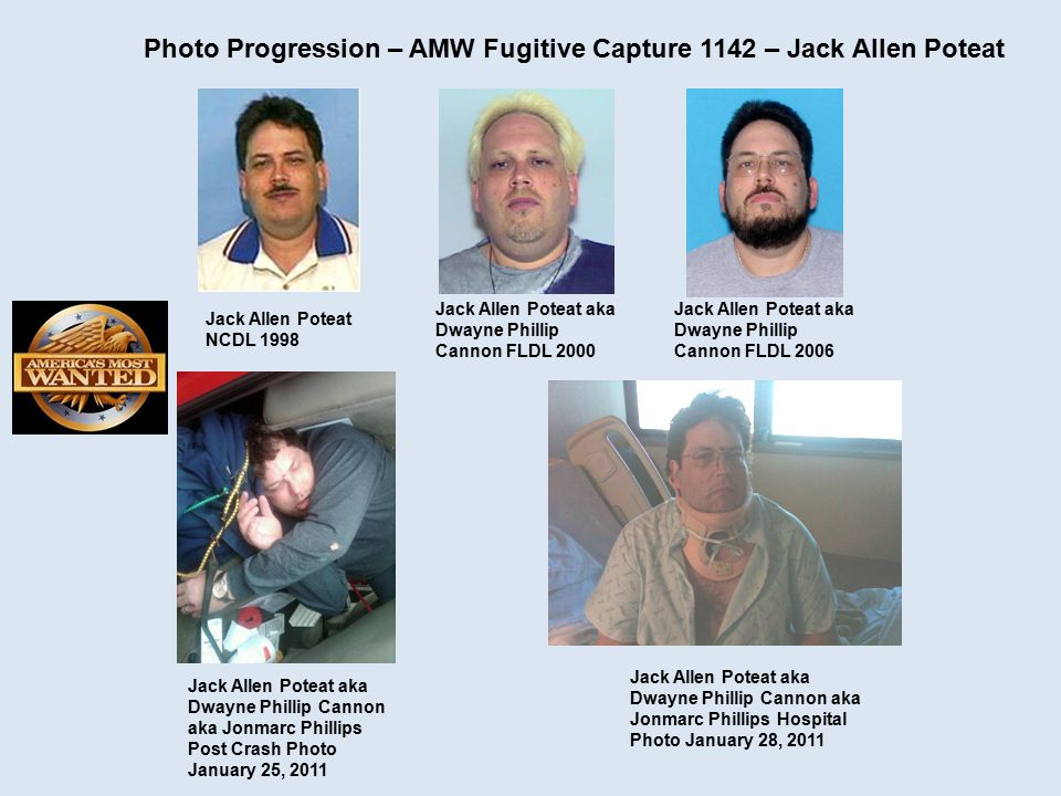 Photo Progression – AMW Fugitive Capture 1142 – Jack Allen Poteat