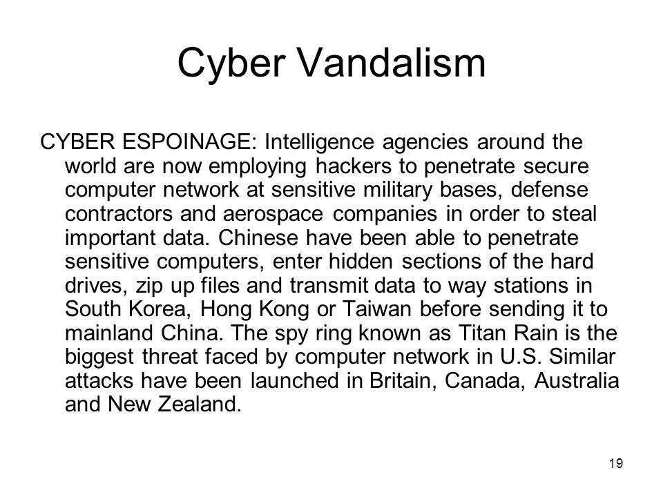 Cyber Vandalism