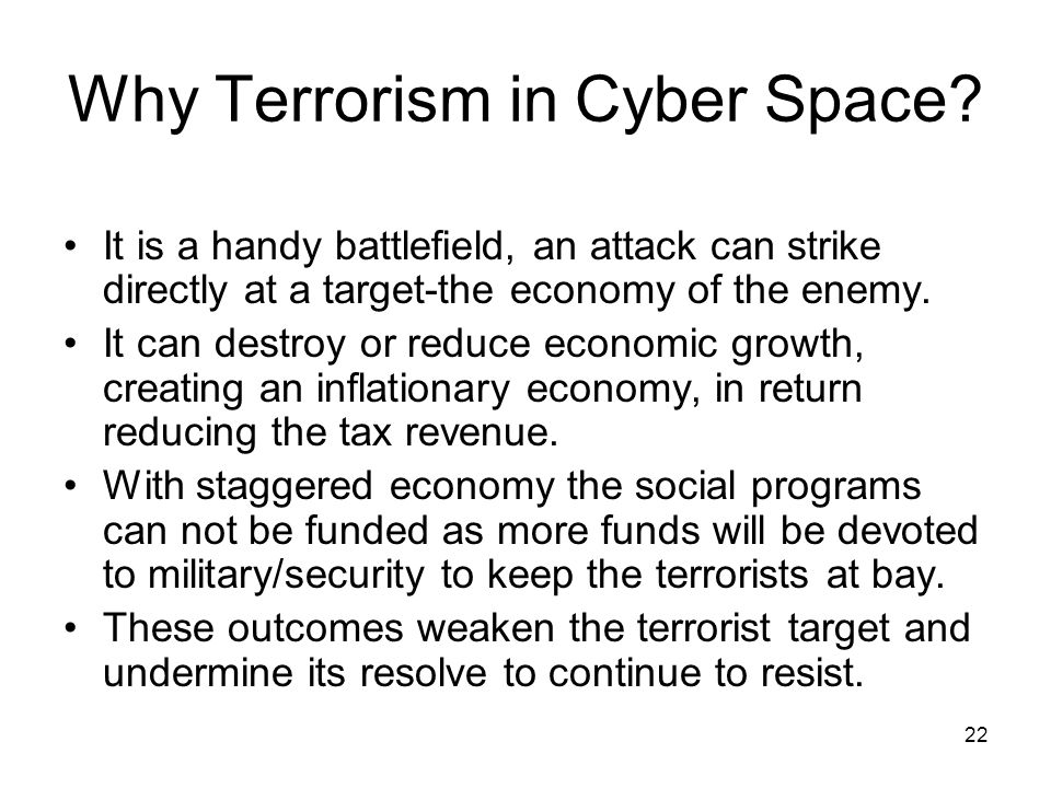 Why Terrorism in Cyber Space