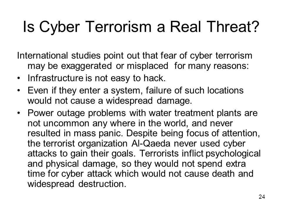 Is Cyber Terrorism a Real Threat
