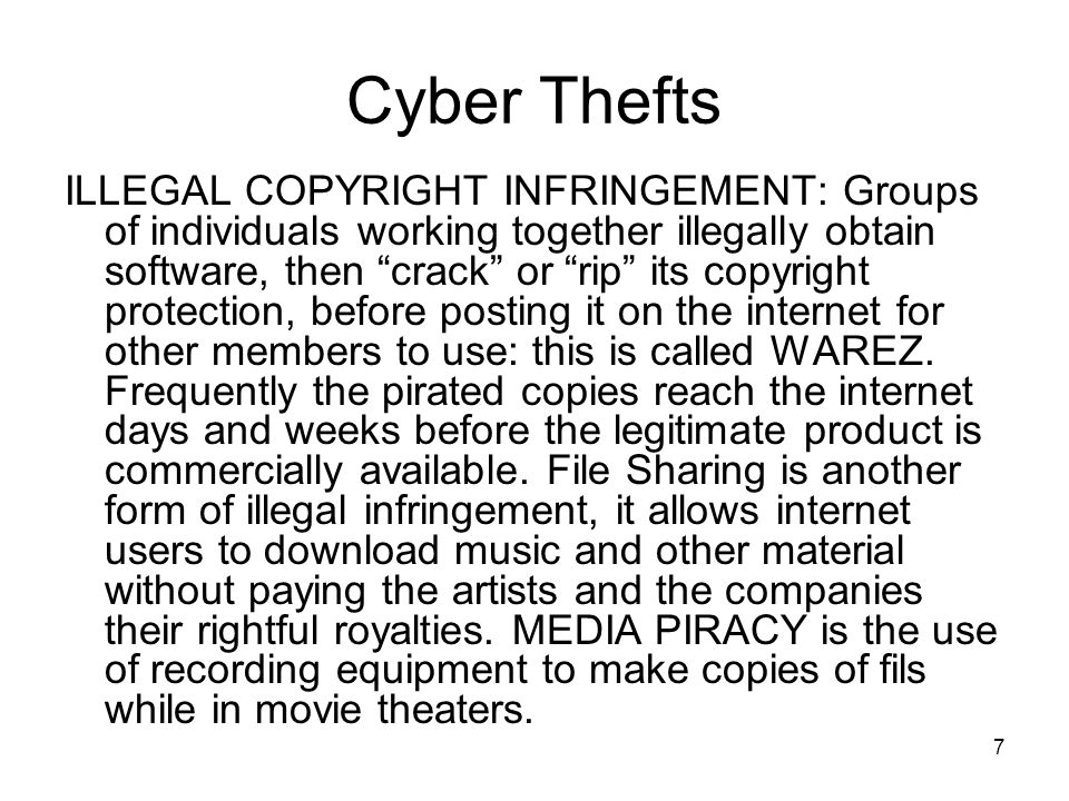 Cyber Thefts