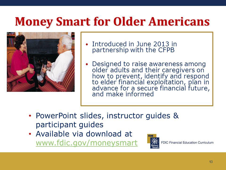 Money Smart for Older Americans