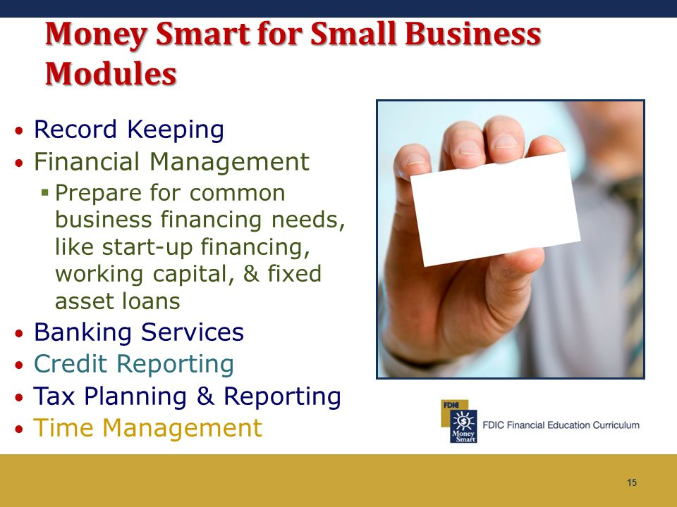 Money Smart for Small Business Modules