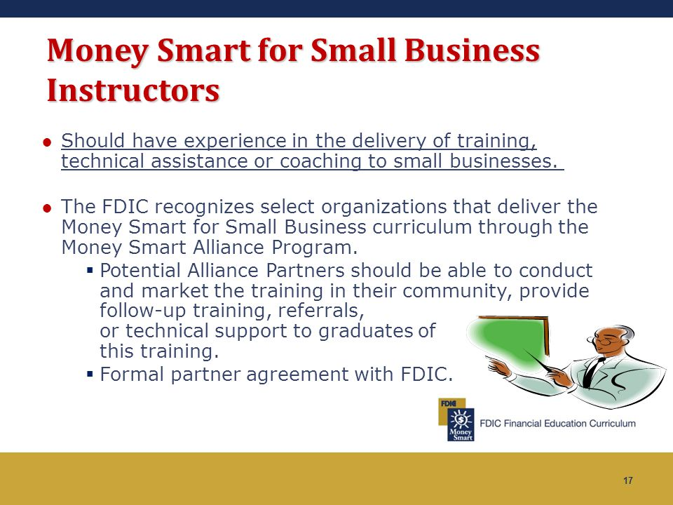 Money Smart for Small Business Instructors