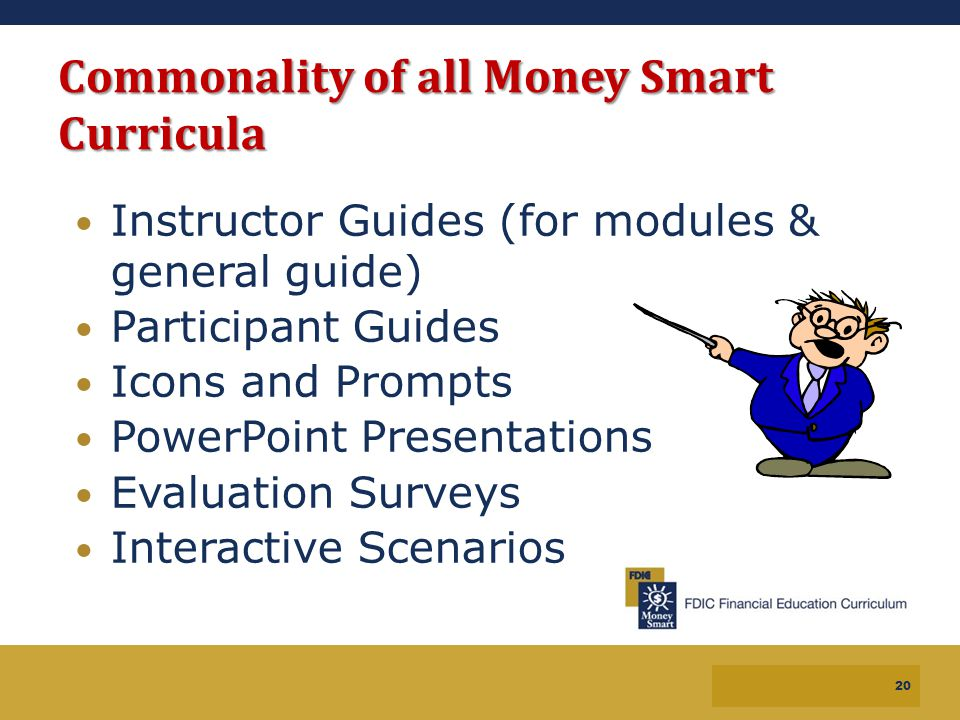 Commonality of all Money Smart Curricula