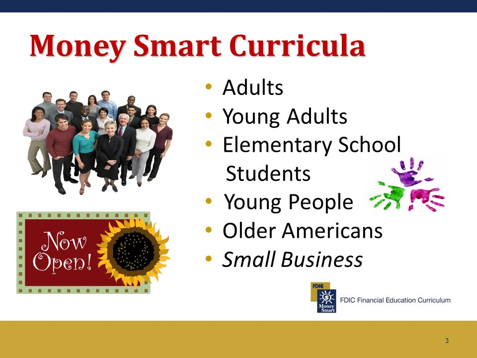 Money Smart Curricula Adults Young Adults Elementary School Students