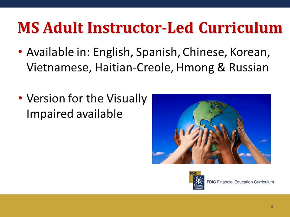 MS Adult Instructor-Led Curriculum
