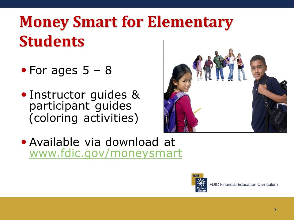 Money Smart for Elementary Students