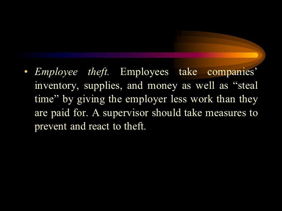 Employee theft.