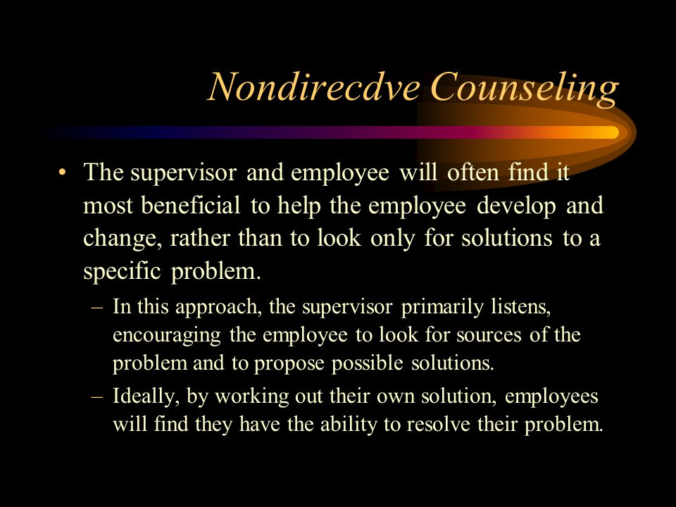 Nondirecdve Counseling