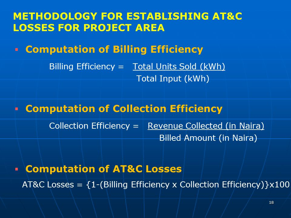 METHODOLOGY FOR ESTABLISHING AT&C LOSSES FOR PROJECT AREA