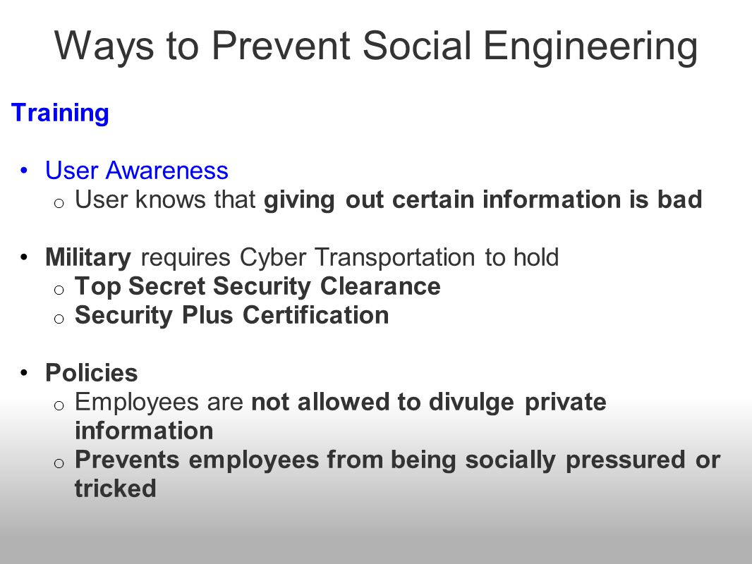 Ways to Prevent Social Engineering