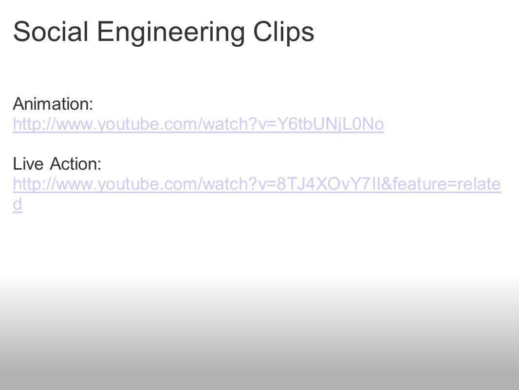 Social Engineering Clips