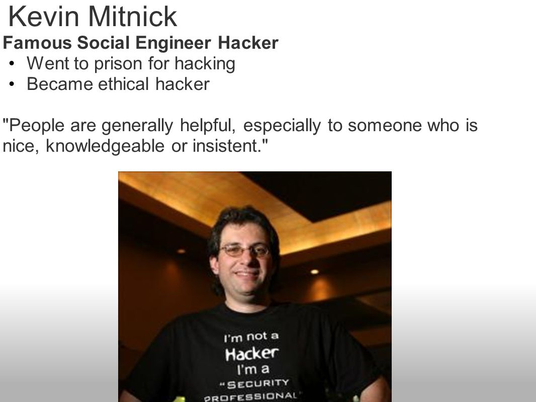 Kevin Mitnick Famous Social Engineer Hacker Went to prison for hacking
