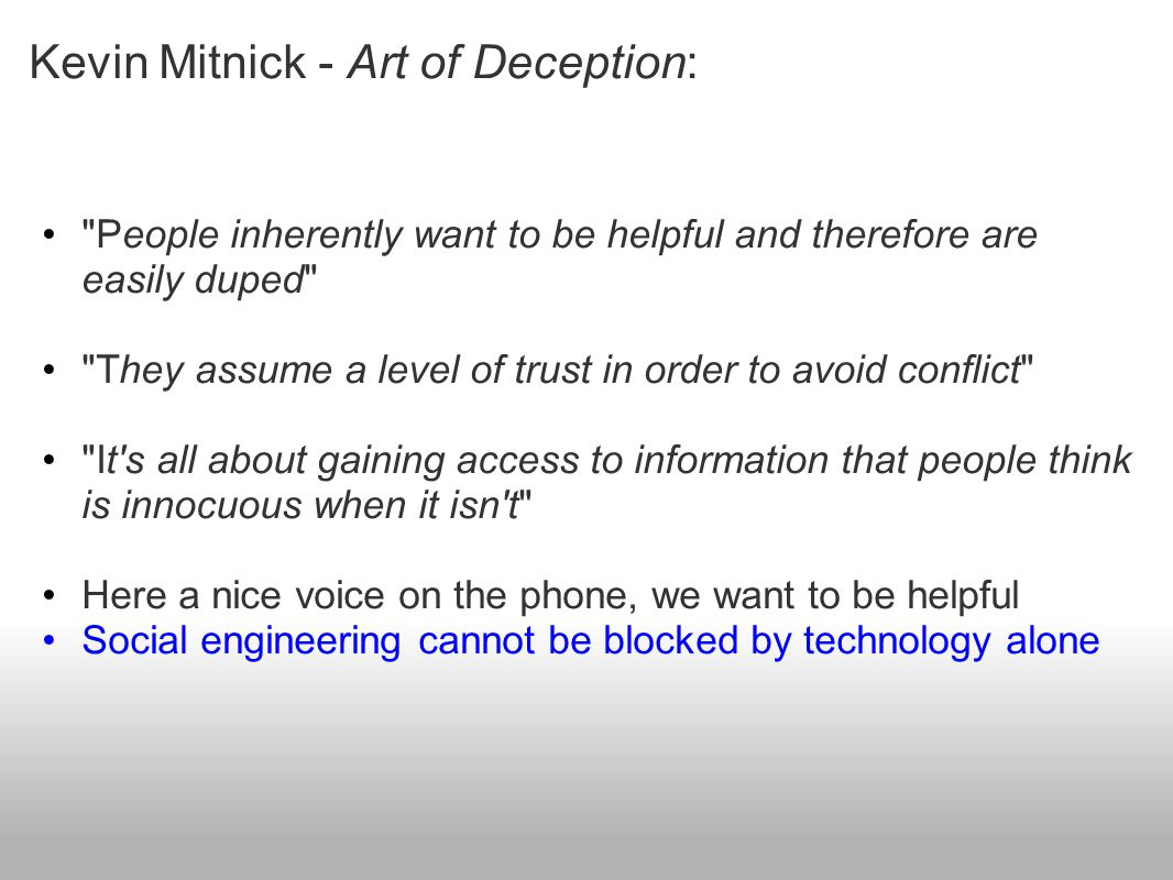 Kevin Mitnick - Art of Deception:
