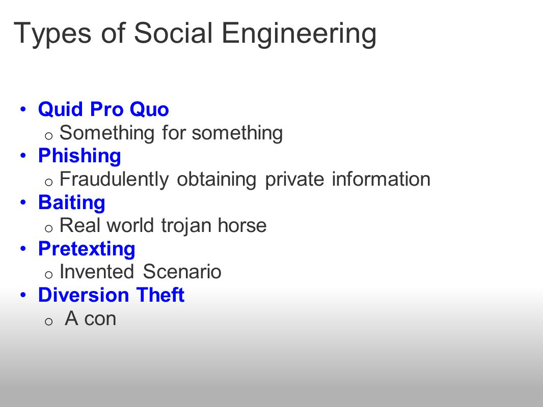Types of Social Engineering