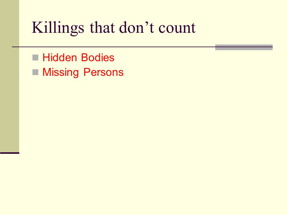 Killings that don't count