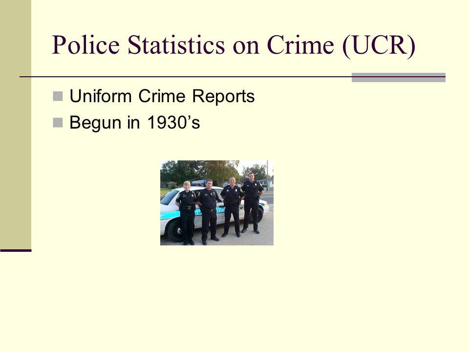 Police Statistics on Crime (UCR)
