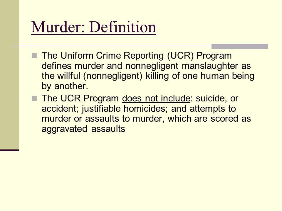 Murder: Definition
