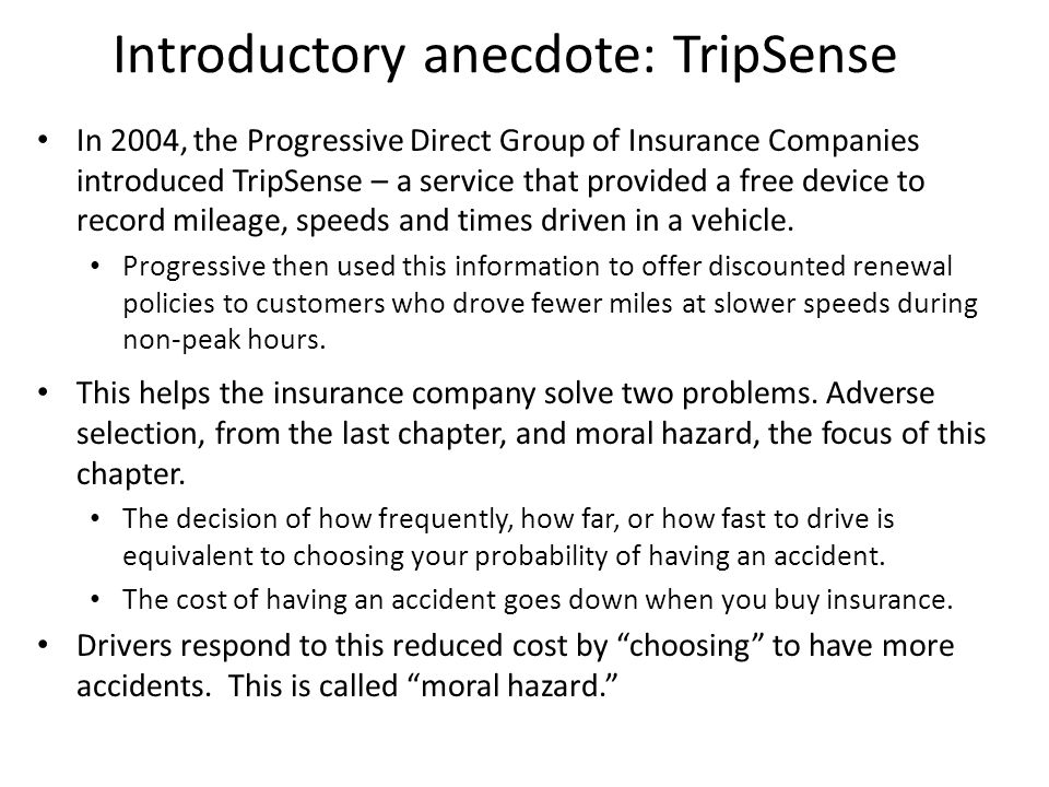 Introductory anecdote: TripSense