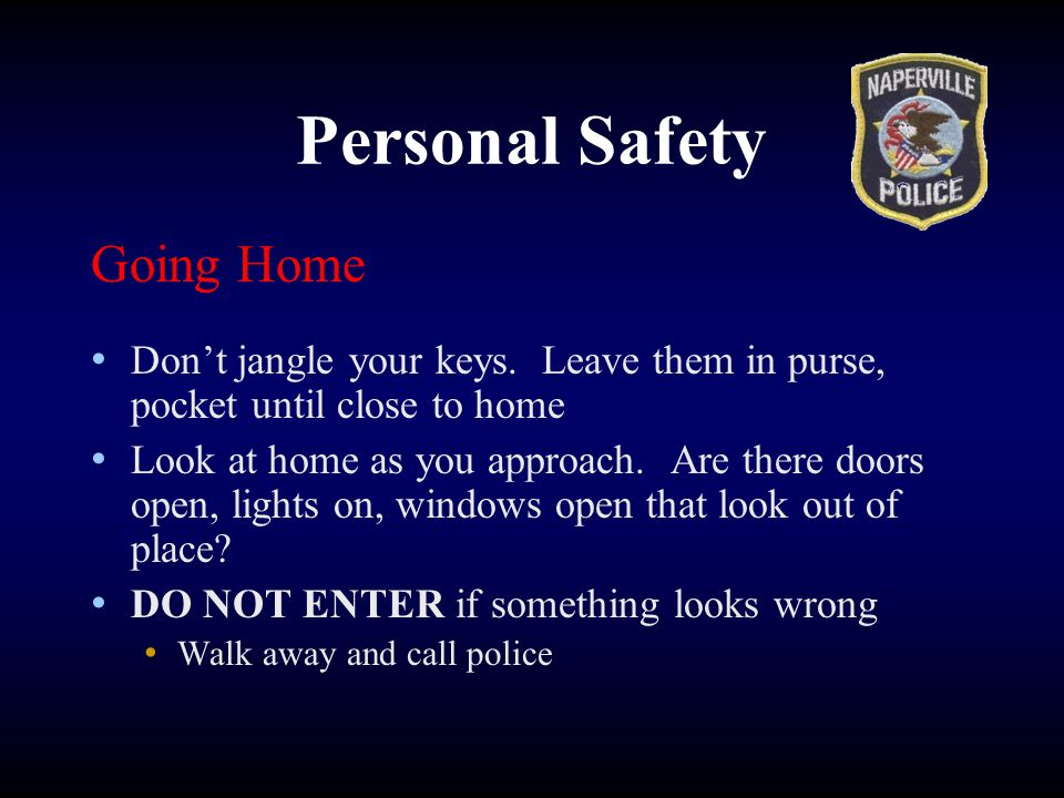 Personal Safety Going Home