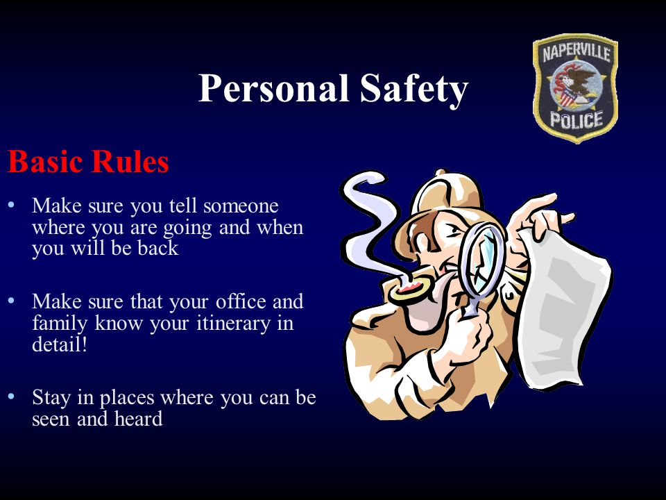 Personal Safety Basic Rules