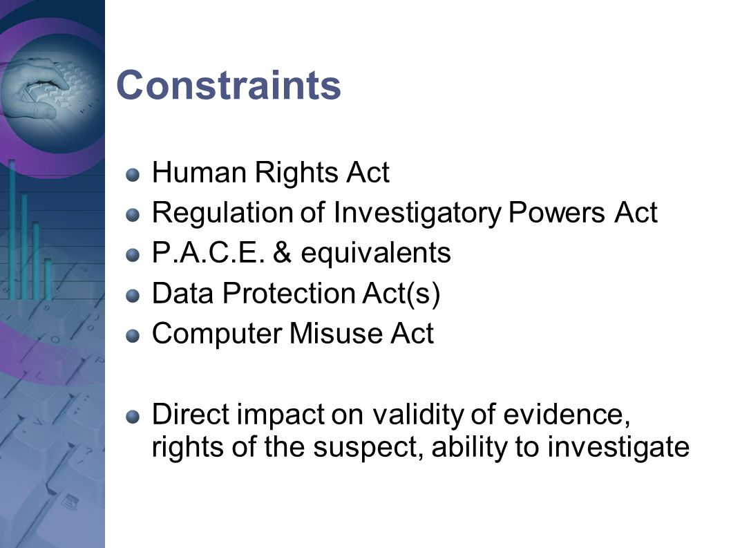 Constraints Human Rights Act Regulation of Investigatory Powers Act