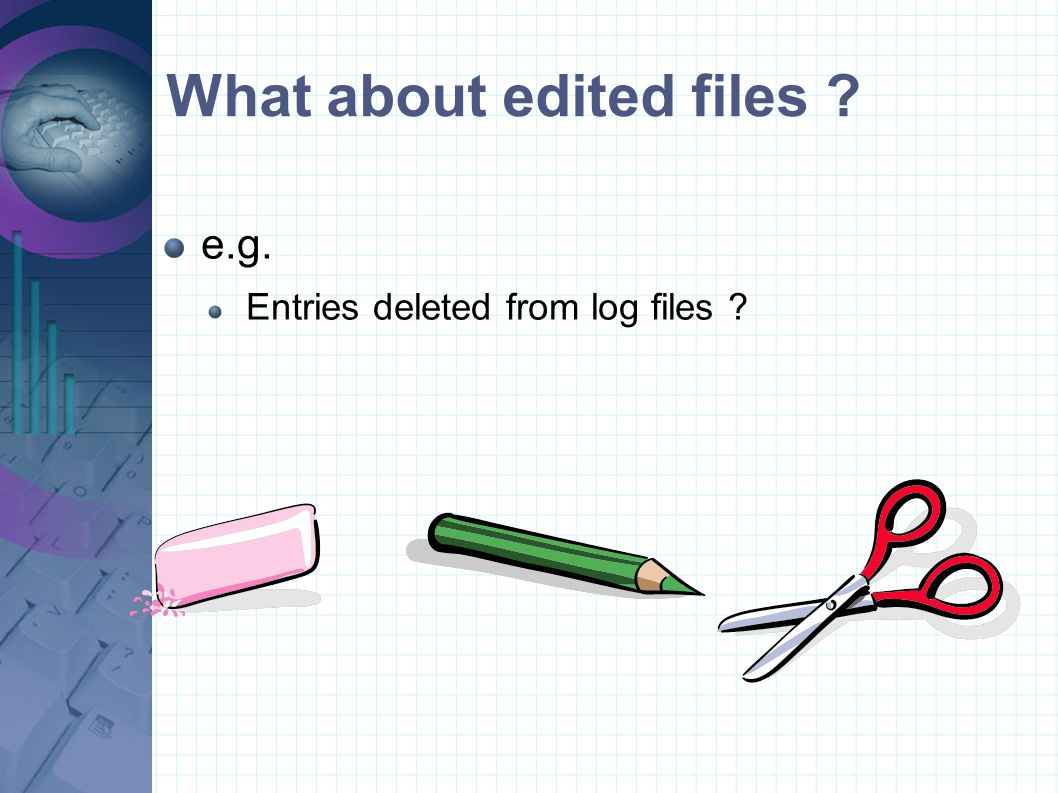 What about edited files
