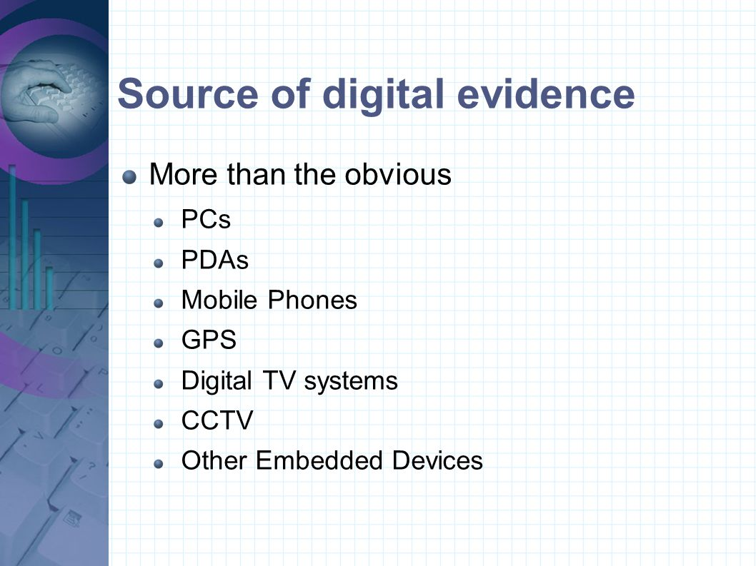 Source of digital evidence