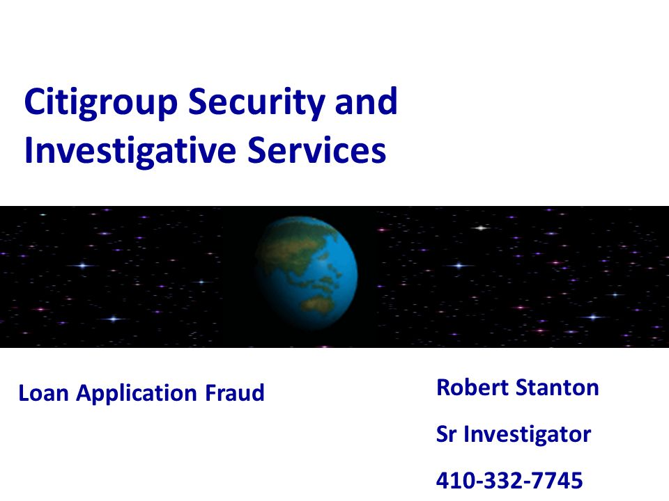 Citigroup Security and Investigative Services