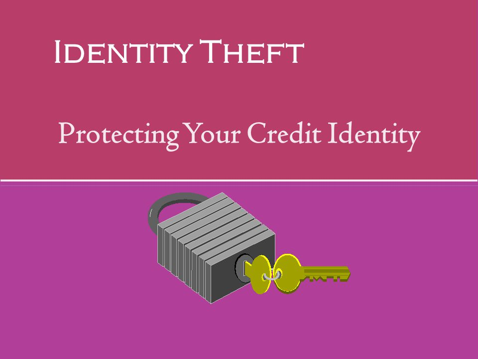 Protecting Your Credit Identity