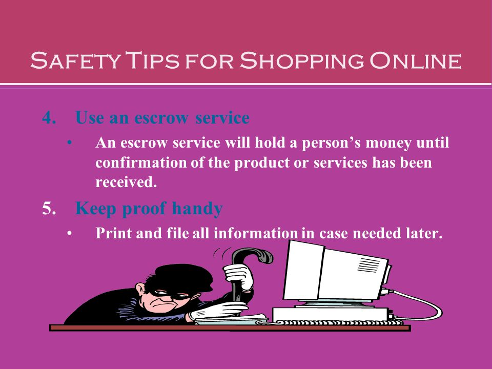Safety Tips for Shopping Online