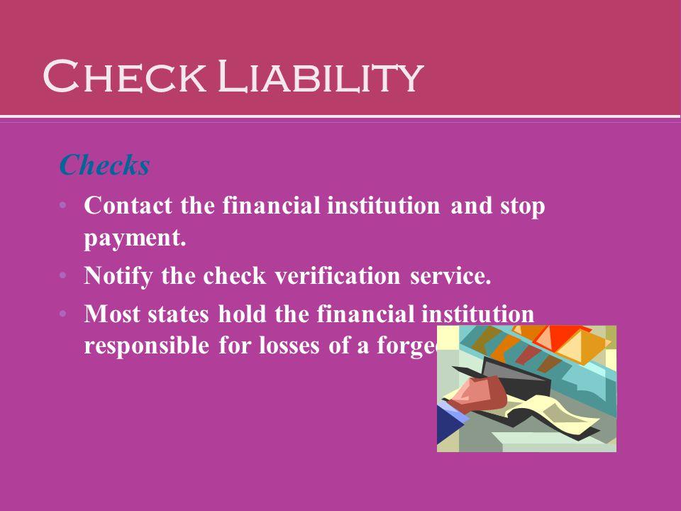 Check Liability Checks