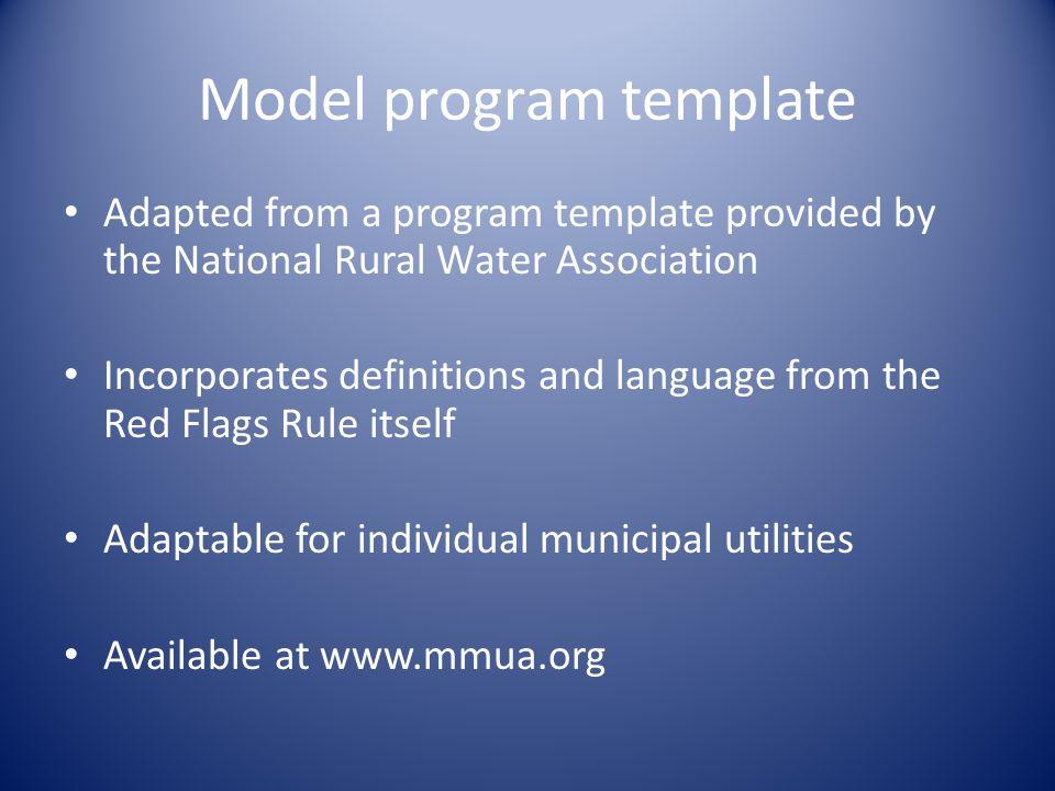 Model program template