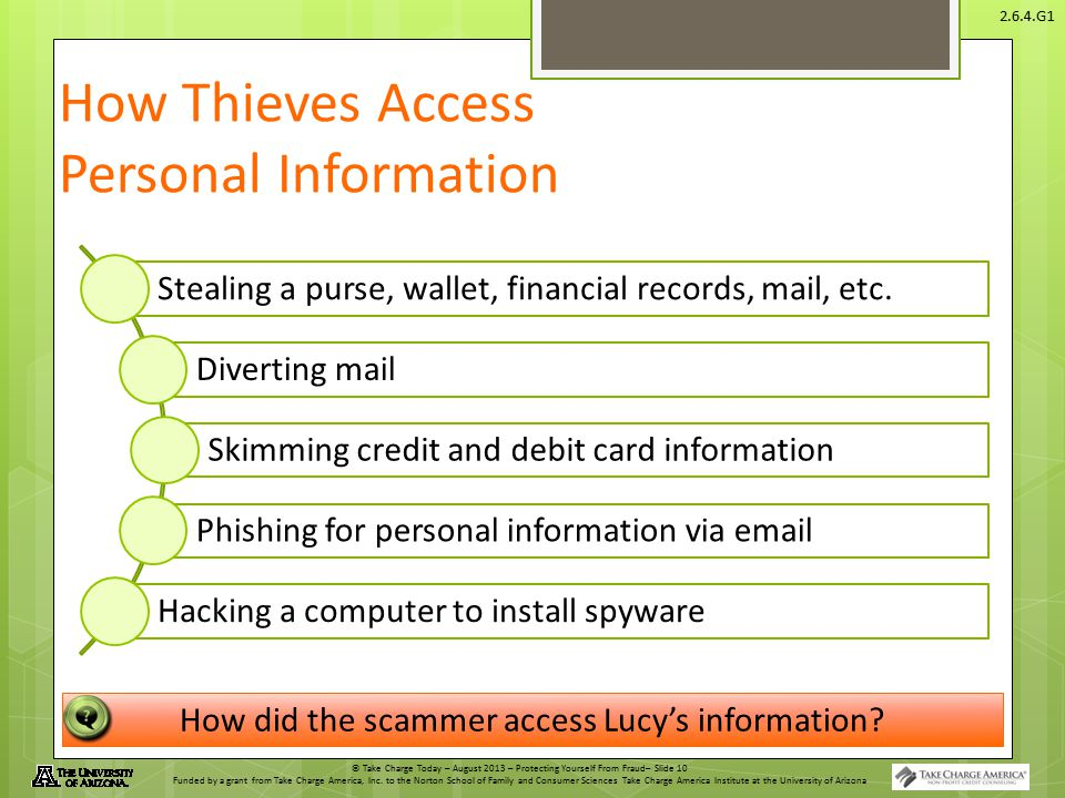 How Thieves Access Personal Information