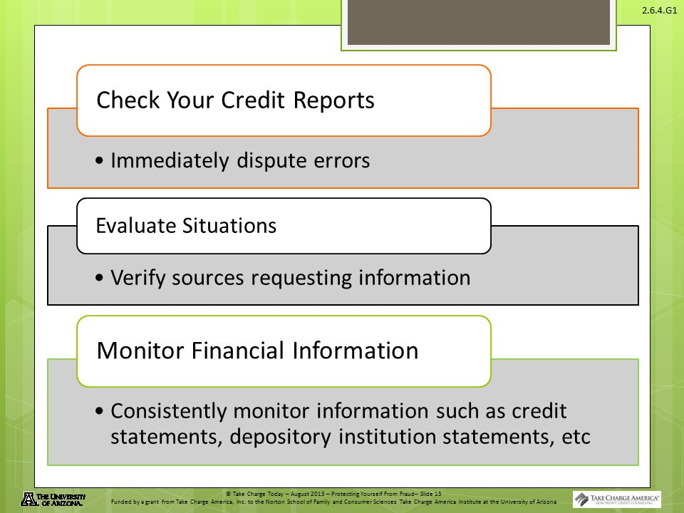 Check Your Credit Reports Monitor Financial Information