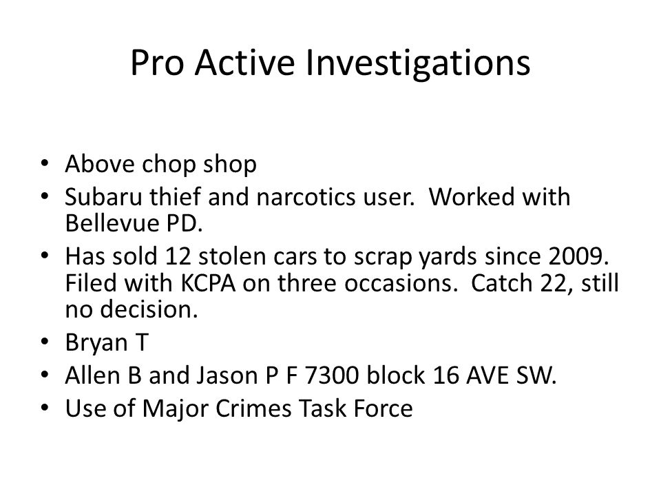 Pro Active Investigations