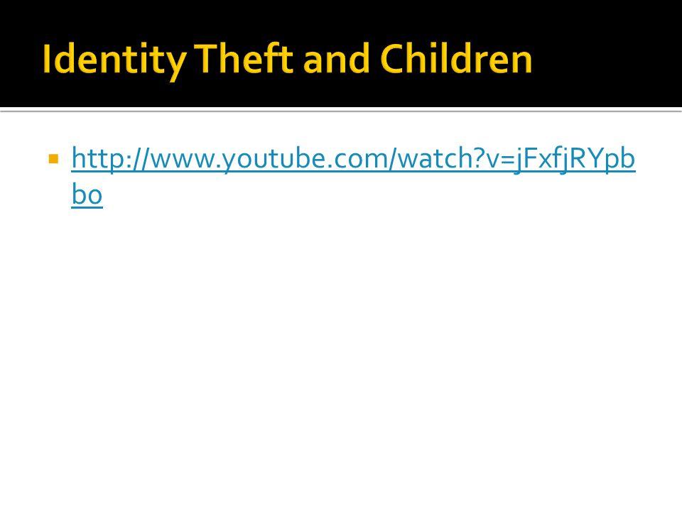 Identity Theft and Children