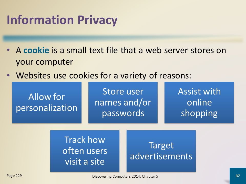 Information Privacy Allow for personalization