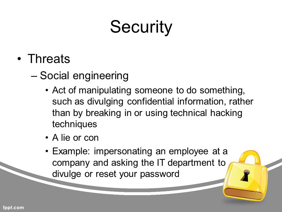 Security Threats Social engineering