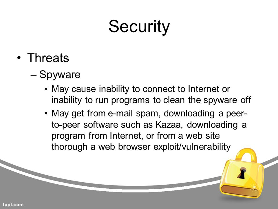 Security Threats Spyware