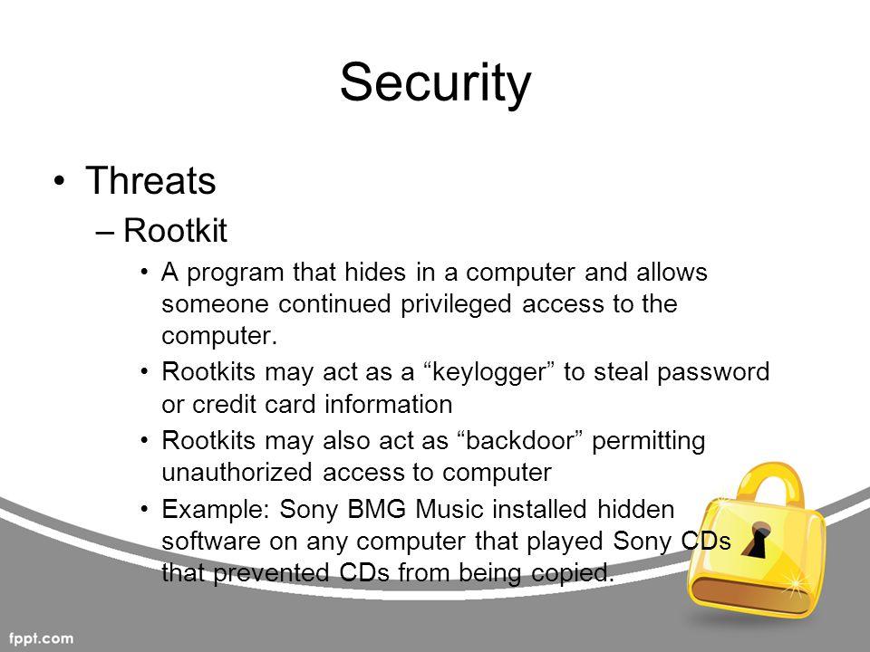 Security Threats Rootkit