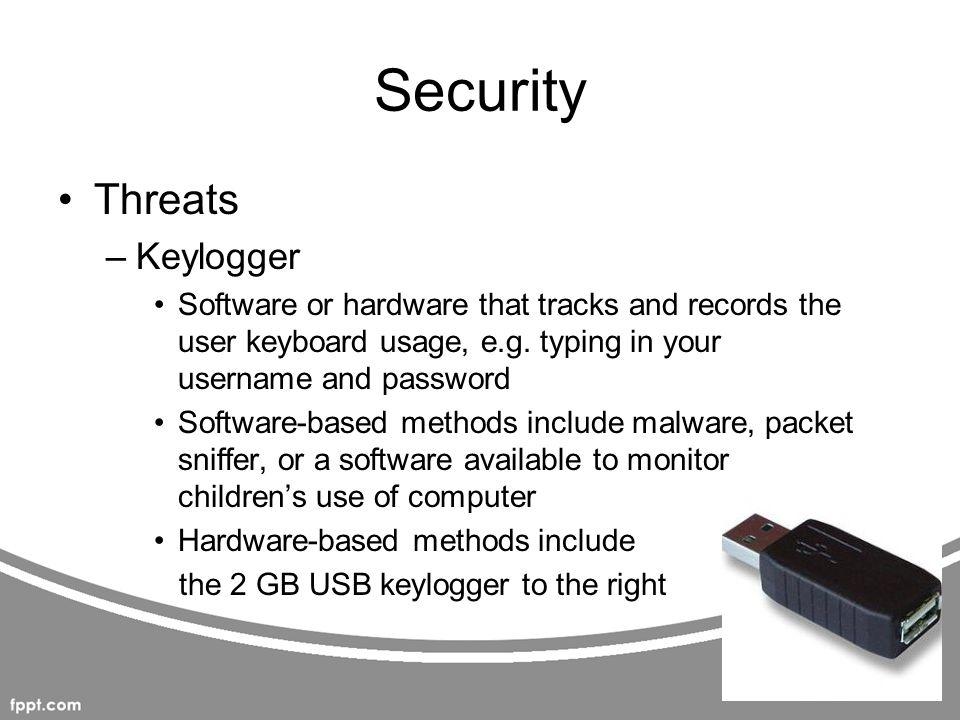 Security Threats Keylogger