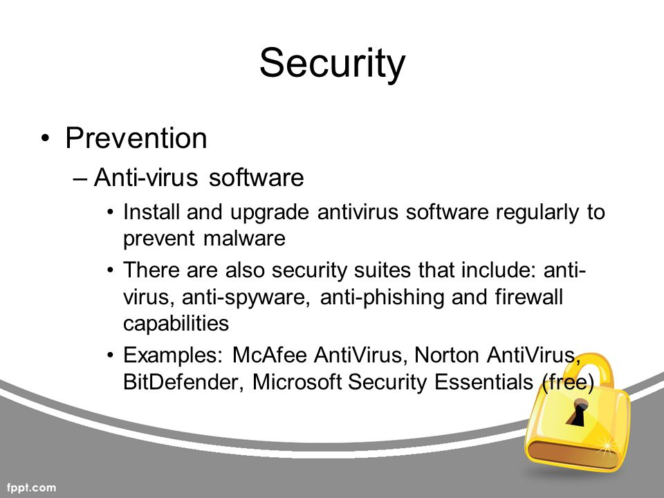 Security Prevention Anti-virus software