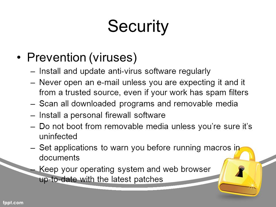 Security Prevention (viruses)