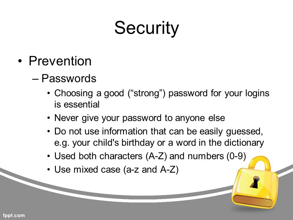 Security Prevention Passwords